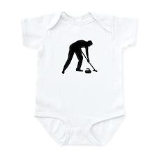 Curling player team Infant Bodysuit