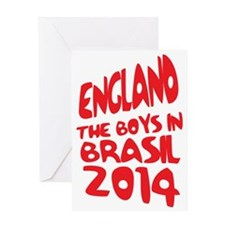 England World Cup 2014 Greeting Card