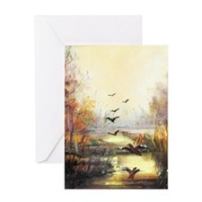 Autumn hunting pastel Greeting Cards
