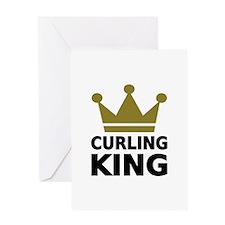 Curling king Greeting Card