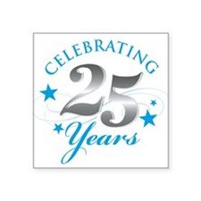 "Cute Silver anniversary Square Sticker 3"" x 3"""