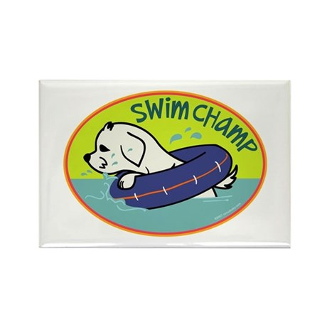 Swim Champ Rectangle Magnet