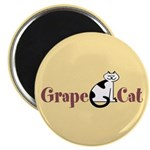 Grape Cat Magnet