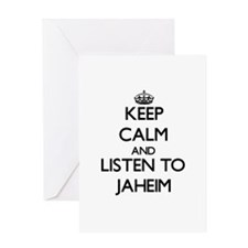 Keep Calm and Listen to Jaheim Greeting Cards