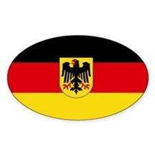 German COA flag Oval Decal