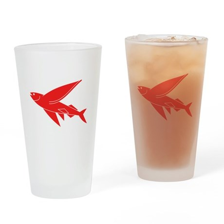 Red Flying Fish Drinking Glass