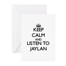 Keep Calm and Listen to Jaylan Greeting Cards