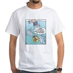 Shark No-Carb Diet White T-Shirt