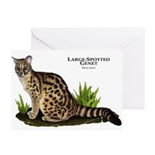 Large-Spotted Genet Greeting Cards (Pk of 20)