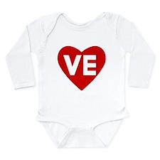 Ve (love) Heart Long Sleeve Infant Body Suit