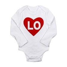Lo (love) Heart Long Sleeve Infant Body Suit