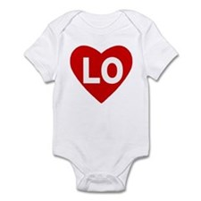 Lo (love) Heart Infant Body Suit