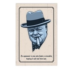 Churchill -Appeasers Postcards (Package of 8)