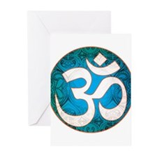Pause and listen for the ohm Greeting Cards