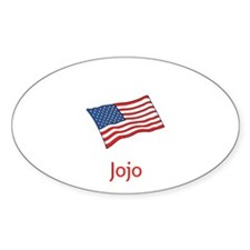 Old Glory Personalized July 4 Pop Decal