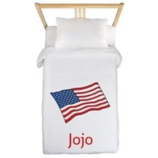 Old Glory Personalized July 4 Pop Twin Duvet