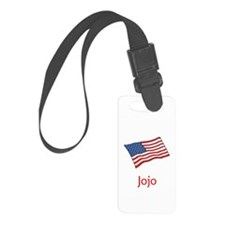 Old Glory Personalized July 4 Luggage Tag