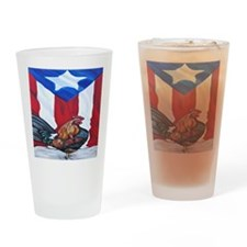El Que Canta Puerto Rican Flag and Rooster Drinkin