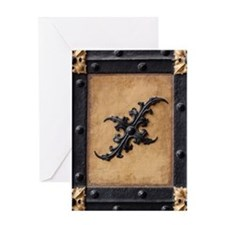 Middle ages door Greeting Cards