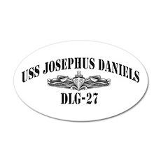 USS JOSEPHUS DANIELS 20x12 Oval Wall Decal