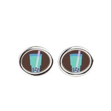 bubble-tea_b.png Oval Cufflinks