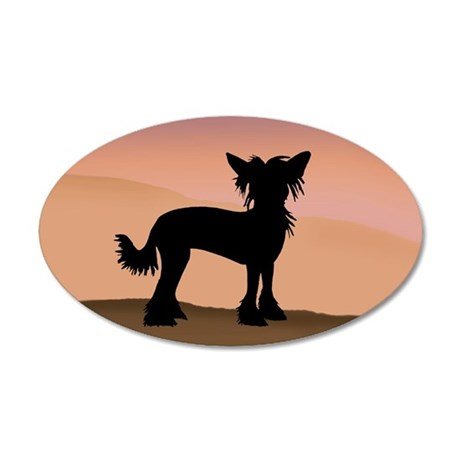 Chinese Crested Desert Hills Wall Decal