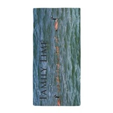 Out For A Swim Geese -003 Beach Towel