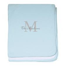 Monogrammed Duvet Cover baby blanket