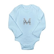Monogram Name and Initial Body Suit