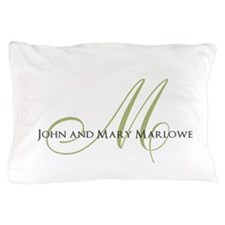 Names and Monogrammed Initial Pillow Case