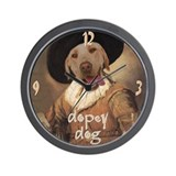 Yellow Lab JOLLY DRINKER Wall Clock