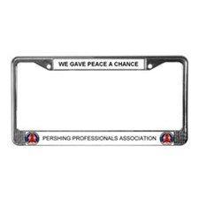 Pershing Professional License Plate Frame