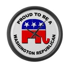 Proud Washington Republican Large Wall Clock