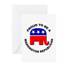 Proud Washington Republi Greeting Cards (Pk of 20)
