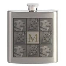 Beautiful Photo Block and Monogram Flask