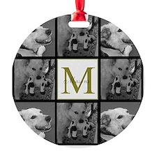 Beautiful Photo Block and Monogram Ornament