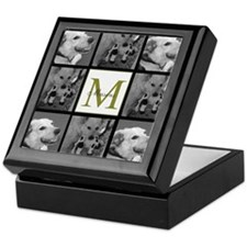 Beautiful Photo Block and Monogram Keepsake Box