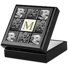 Beautiful Photo Block and Monogram Keepsake Box