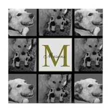 Beautiful Photo Block and Monogram Tile Coaster