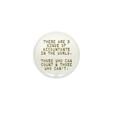 3 Accountants Mini Button (10 pack)