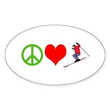 PEACE, LOVE, SKI Decal