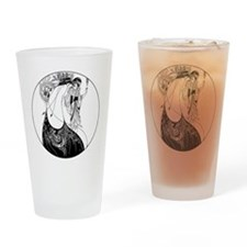 Art Nouveau Beardsley Peacock Skirt Drinking Glass