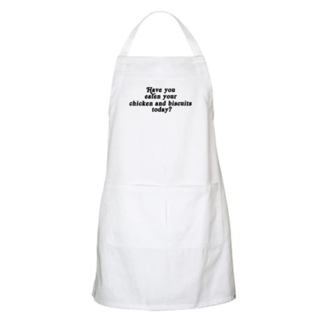 chicken and biscuits today BBQ Apron