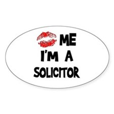 Kiss Me I'm A Solicitor Oval Decal