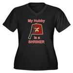 Hubby is a Shriner Women's Plus Size V-Neck Dark T