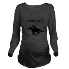 Cowgirl Long Sleeve Maternity T-Shirt