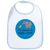 I'm allergic to eggs and nuts Bib
