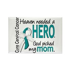Cervical Cancer Heaven Rectangle Magnet (100 pack)