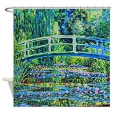 Monet - Water Lily Pond Shower Curtain