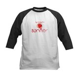 Kid Baseball Jersey - My Mommy is a Survivor